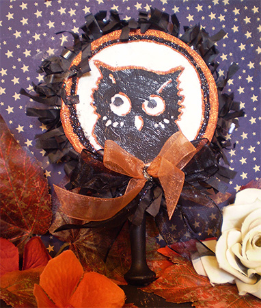 Black Owl Noisemaker Rattle