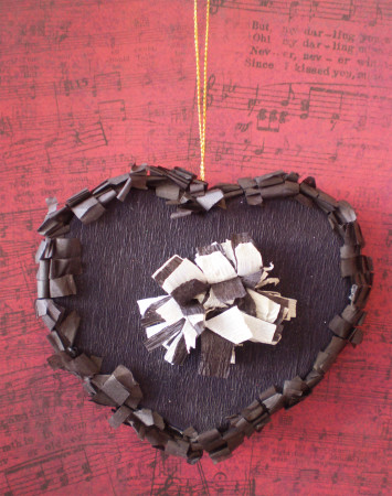 Black Heart Ornament
