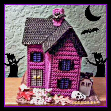 Miniature Gothic Haunted House