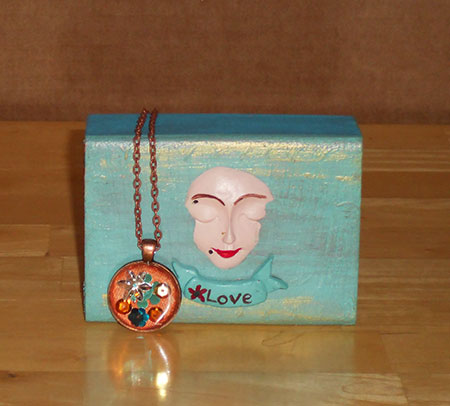 Love Gift Box with Copper Necklace