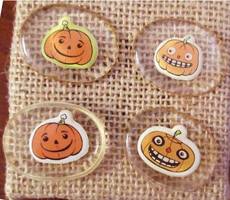 Pumpkin Cabochons