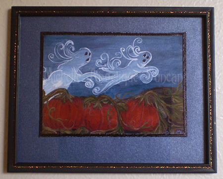 Roaming on Halloween Framed Print