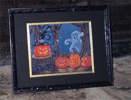 The Great Pumpkin & His Cult framed print