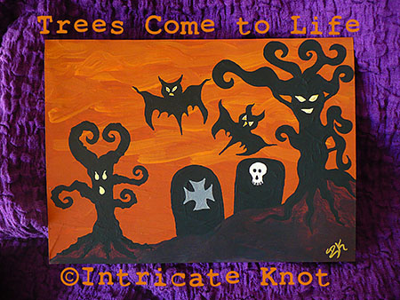 Trees Come to Life on Halloween Night