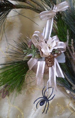 Vintage style Christmas Spider Ornament