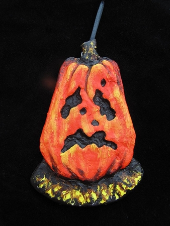 Crying Ghost Jack.  A Halloween/Christmas Ornament.