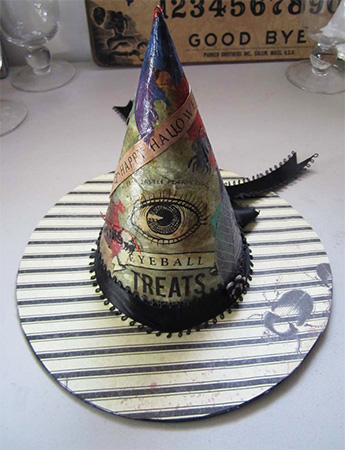 Altered Art Hannahsye Old Witch Hat