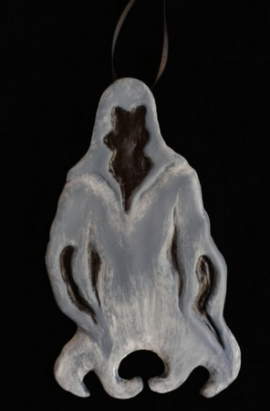 Faceless.  A Halloween/Christmas Ornament.
