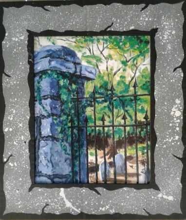 Decatur Cemetery Gate Print
