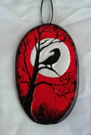 Raven Halloween Ornament