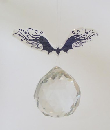 Bat and Crystal Sun Catcher