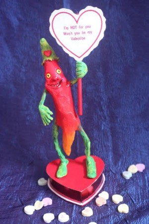 Chili Pepper Valentine's Candy Box