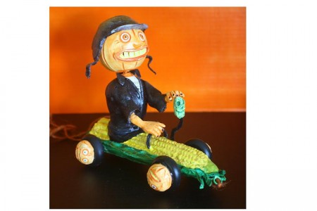Corn Car Pumpkin Pull Toy