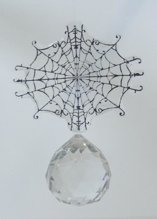 Spider and Crystal Sun Catcher